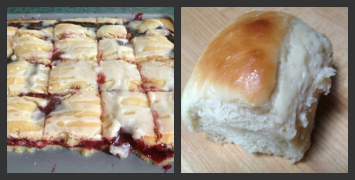 Cherry Pie Bars & Honey Rolls